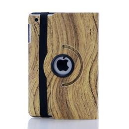 Wholesale Ipad Mini Uk Flag Cover - 360 degree Rotating PU Leather Wooden Wood Cases for iPad Polka Leopard Zebra UK USA Flags Case iPad mini 4 cases