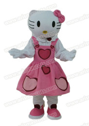 Wholesale Mascot Kitty - Fast Delivery Hello Kitty mascot costume cartoon mascot Adult Fancy Costume Party dress