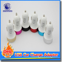 Wholesale Iphone5 Uk Charger - Car Charger 2.1 A USB Two Port Plug Jack To Cigarette Socket Lighter Power Adapter For Samsung iphone5 6 Ipad