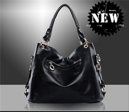 Wholesale Ladies Bags Chains - Womens Leather Bags New Womens High-grain PU Leather and Waterproof Handbags Fashion Lady Soft and Large Capacity Handbags