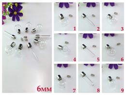 Wholesale Assorted Necklace Designs - 6MM Glass vials(Preglued Nickel-plated screw caps) ,assorted designs),Vampire vial pendant,DIY wishing vials