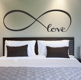 Wholesale Love Quote Wall Decals - Wholesale Free shipping Large Infinity Symbol Bedroom Wall Decal Love Bedroom Decor Quotes Vinyl Wall Stickers