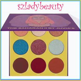 Wholesale Luminous Lipstick - The Saharan II By Juvia's 2 Eyeshadow Palette saharan have 9 colors VS Glamierre glitter plaette with lipsticks 660216