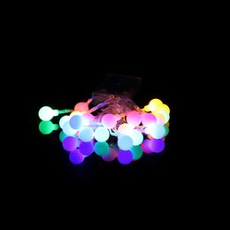 Discount small white led battery - Wholesale- 2017 New Long Working time Multi-color lamp String Light Christmas Party Decorative Lamp 20 LED Small Ball Light