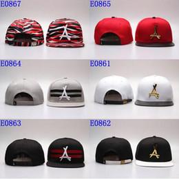 "Wholesale Flat Hats Kids - Wholesale COOL ! New arrival gold ""A"" strapback hat Hats Nice Snap backs kids Adjustable Strapbacks HIP HOP Steetwear Hat Cap men"