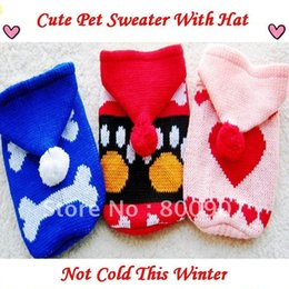 Wholesale Dog Appreal - Wholesale-100% acrylic pet dog clothing sweater appreal clothing smalldog With hat