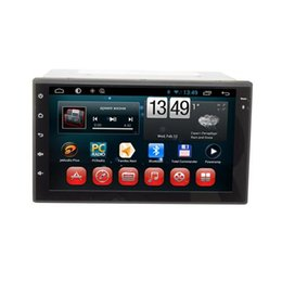 Wholesale Car Navigation Touch Screen Sale - Universal In-Dash 2 din Car GPS Navigation DC12V Android 4.4 Car Sat Nav with Bluetooth 7 Inch Screen Touch Buttons Design Sale 7102