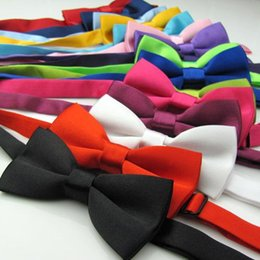 Wholesale Cute Boy Lovely - Kids Bow Tie Adjustable Fashion Children Cute Bowknot and Adjustable Bow Tie New Baby Lovely Pure Color
