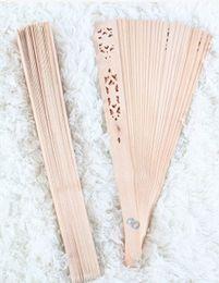 Wholesale Antique Japanese Box - Grade wood folding fan sandalwood hollow wooden household goods sector