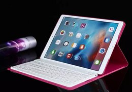 Wholesale Ipad Flip Case Keyboard - Hard Plastic Stand For Apple Ipad Pro Case Wireless Bluetooth Keyboard Ultra-Thin Cover Colorful Flip Leather Case For Apple Ipad Pro
