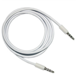 Wholesale Orange Audio Jack - Jack 3.5mm Audio Extension Cable Male to Female to male Aux Cable for iphone samsung MP3 MUSIC PLAYER IN THE CAR White DHL CAB234