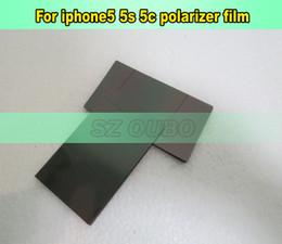Filme polarizador iphone on-line-Novo 200 pçs / lote lcd film film polarizador para apple iphone5 5g 5s 5c polarizador polarizador filme original polarização película de luz