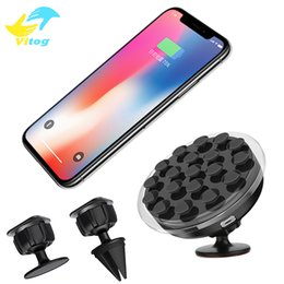 Wholesale Wireless G3 - Car Mount Qi Wireless Charger Charging Pad Phone Holder Wireless Car Charger For iphone 8 x Samsung S6 S7 S7 Edge Note 5 LG G3 G4