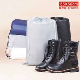 Wholesale Drawstring Dust Covers - Portable 35x50CM Prevent Dust Non Woven Thick Stuff Sacks Short Boots Beam Port Drawstring Travel Pouch Groceries Thick Bag