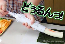 Wholesale Bento Tools Wholesale - Make Sushi Roller Kit Sushi Mold Maker Bazooka Sushi Rolls Making Tool Rice Mould Roller Cooking Tools Bento Accessories