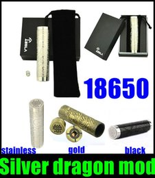 full copper mechanical mod Coupons - 2015 Rushed 18650 Battery Mod Mechanical Mod Dragon Mod Silver Dragon Mod Full Mechanical Mech Copper Plated Pin Dhl Hot Selling Tz226