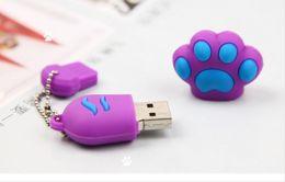 Wholesale thumb memory stick - 64GB Cartoon Paw lovely USB 2.0 Flash Memory Pen Drive Sticks Thumb Drives Disks Discs 64GB Pendrives Thumbdrives 50pcs