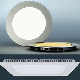 Wholesale Light Boxes Aluminum - Led Panel Lights CREE Led Recessed Downlights Lamp Sample Color Box 9W 12W 15W 18W Warm Natural Super-Thin Round Square 110-240V
