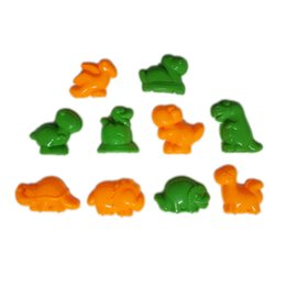 Wholesale Dragon Mold - Wholesale-10pcs Beach toys Dragon Shape Mars Sand Polymer Clay Resin Candy Fimo Mould Sculpture Super Light Clay Plasticine Mold DIY