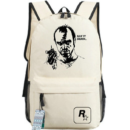 Wholesale Philips Quality - Trevor Philips backpack Gta hot day pack Grand theft auto school bag Game packsack Quality rucksack Sport schoolbag Outdoor daypack