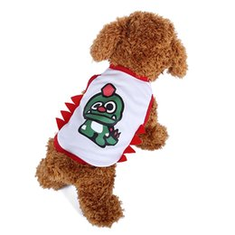 Wholesale Cheap Cosplay Outfits - Dinosaur Cosplay Dog Clothes Cheap Small Dog Christmas Outfits Har Vest For Pet White Cute Dog Shirt Clothing Puppi Clothes