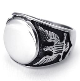Taille 8/9/10/11/12/13 Bijoux de mode pour hommes, acier inoxydable 316L Gothic Bird Eagle Music Drum Ring ? partir de fabricateur