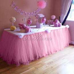 Wholesale Fantastic Wedding - Many Color TUTU Table Skirt Tulle Tableware for Wedding Decor Birthday Baby Shower Party to Create a Fantastic Wonderland 100cm(L)*80cm(H)