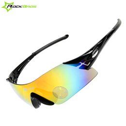 Wholesale Colorful Bicycles - Wholesale-ROCKBROS Colorful Cycling Riding Glasses Women's Men's Outdoor Sports Bike Bicycle Windproof Sunglasses