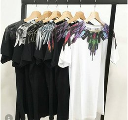 Wholesale L S Magazine - Wholesale Marcelo Burlon T Shirts Men Women Italy County Of Milan Feather Wings MB T-shirt RODEO MAGAZINE Tee Marcelo Burlon T Shirts