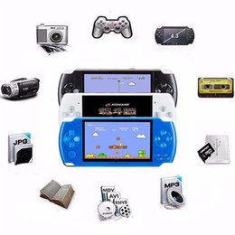 """Wholesale Mp4 Av Out - 4GB 8GB Hot 4.3"""" LCD Game Console PMP MP4 MP5 Games Player With Free 2000+ Games 1.3MP Camera Support Player AV-Out FM 5pcs DHL"""