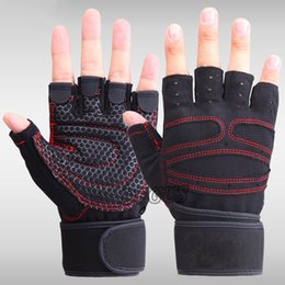 Wholesale Resistance Lycra - Wholesale- Sports Fitness Gloves Exercise Training Gym Gloves Multifunction for Men & Women sweat absorption friction resistance TD003