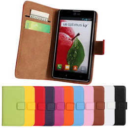 Wholesale Lg L7 P713 - High Quality Oil Wax Style Leather Flip Wallet Case Pouch For LG Optimus L7 2 Dual P710 P713 Free Shipping