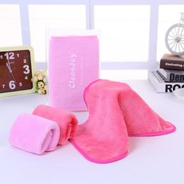 Wholesale Pink Facial - Natural MicroFabric Makeup Remover Towel Reused Cleaning Face Towel Facial Wipe Cloths Wash Cloth Bridal Party Moter's day Gift