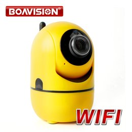 Wholesale Records Wireless Networks - Super Mini Wireless Security IP Camera Wifi IR-Cut Night Vision Two Way Audio Recording Surveillance Network Indoor Baby Monitor