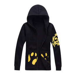 Wholesale Trafalgar Law Hoodies - NEW Free Shipping One Piece Cosplay Shichibukai surgeons Trafalgar Law 2 Years Later Costume Hoodie winter Sportswear