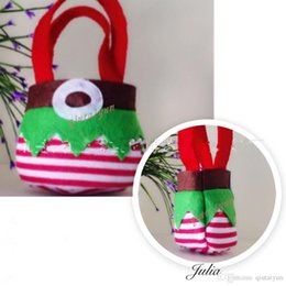 Wholesale Wholesale Sell Christmas Elves - In Stock Elf Bags Christmas Candy Gift Bag Xmas wedding Party Supplies Top Selling Free Shipping Christmas Decorations H437