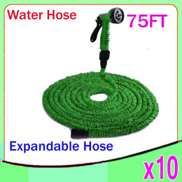 Wholesale Sg Water - New Expandable Flexible Water Garden Hose flexible water pipe Wash car 75FT Simple Packaging 10pcs ZY-SG-02