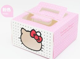 Wholesale Cupcake Carriers - 20 Kitty Clear Window 4 inch Cake Carrier Box,Wedding Party Favor Cupcake Bakery Gift Boxes (S0717G)