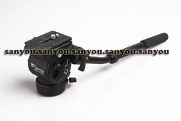 Wholesale Wf Tripods - New WEIFENG WF-717AH Photography Video DSLR Camcorder Fluid Tripod Head Drag+ Handle