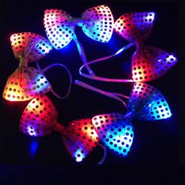 смеситель Скидка LED Mix цвета изменение галстук-бабочку дети взрослый многоцветный бантом мигающий галстук свет игрушки для партии дискотека KTV украшения