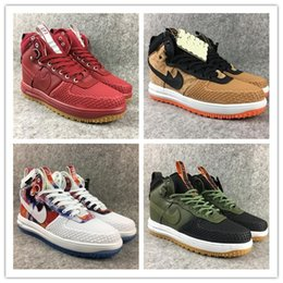 Wholesale One Boot - 2017 hot sale high qulity Fashion new Lunar forces one Duck boot Men's sports boots Casual Shoes man sport Sneakers size 40-47