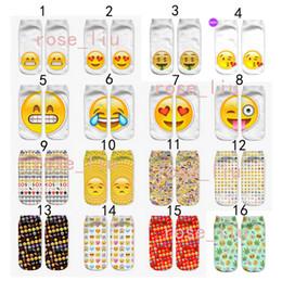 2019 estrangeiros engraçados 32 Design DHL 3D mulheres homens emoji meias curtas Crianças algodão novidade Criativa engraçado estrangeiro QQ expressão sorrindo rosto meias B desconto estrangeiros engraçados