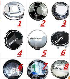 Wholesale mercedes clk - 4pcs*75mm Car Wheel Center Hub Cover Caps Logo Emblem For Mercedes Benz W203 W210 W211 AMG W204 C E S CLS CLK CLA SLK CLASS