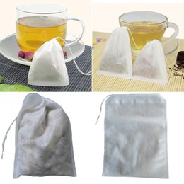 Wholesale Empty String Heat Seal Filter - 1Set 100PCS Free Shipping High Quality White Paper Herb Loose Tea Bags Teabag Empty Teabags with String Heat Seal Filter