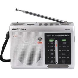 Wholesale Sd Card Radios - FM   AM 2 Band Radio Receiver REC Recorder USB SD Card MP3 Player Silver Y4151D