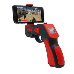 Wholesale iphone gamepad bluetooth - New AR Game GUN Gamepad Joystick Bluetooth Controller Remote Control Toys Gun Ar Blaster For iPhone Android Smart Phone Retailpackage