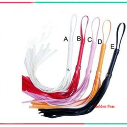 Wholesale Toy Sex Games For Pc - Wholesale-1 pcs Leather Whip(4 Color) Spanking Paddle Adult Sex Game Toys Erotic Products For Couples