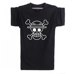 Wholesale One Piece Luffy Hat - Wholesale-Cheap Fashion T Shirts Men One Piece Luffy Straw Hat Tshirt Cotton Normal O Neck Tops Anime T-Shirt Clothing Short Sleeve F10614