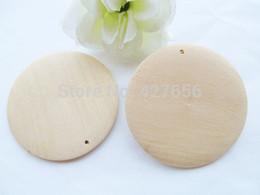 Wholesale Unfinished Wood - 100pcs 50mm Unfinished Large Heavy Flat Circle Round Discs Natural Wood Pendant Charm,One hole,DIY Accessory Jewellry Making