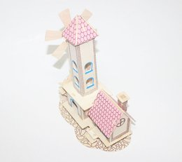 toy cabin prices - Factory direct children's wooden toys innocence cabin house building model 3d puzzle toy building assembled combination of creative intellig